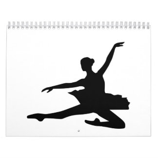 Ballet dancing girl wall calendar