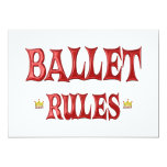 Ballet Dancing Rules 5x7 Paper Invitation Card