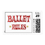 Ballet Dancing Rules Postage Stamps