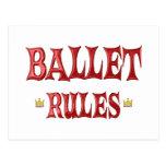 Ballet Dancing Rules Postcard