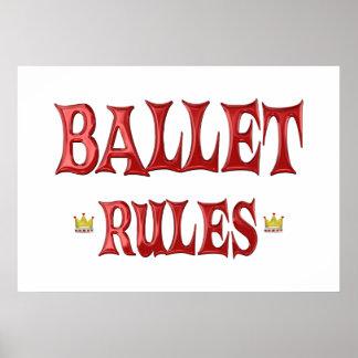 Ballet Dancing Rules Print