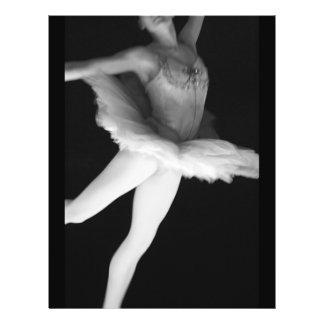 """Ballet - danza - bailarina 9 - negro y blanco folleto 8.5"""" x 11"""""""