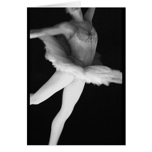 Ballet - danza - bailarina 9 - negro y blanco felicitacion