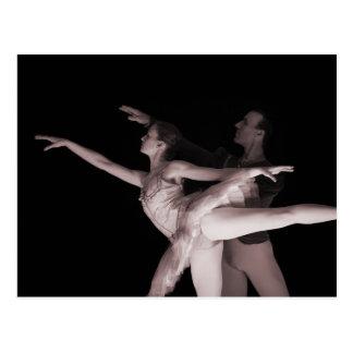 Ballet - danza Partners 2 - rojo Postal