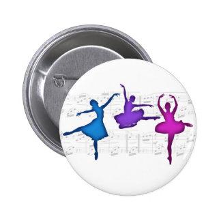 Ballet Day Ballerinas Button