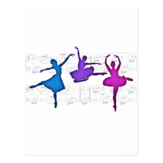 Ballet Day Ballerinas Postcard