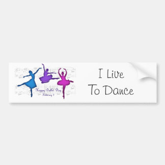 Ballet Day February 7 Bumper Sticker