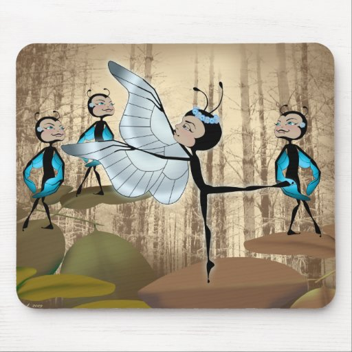Ballet de Butterfairy Alfombrillas De Ratones