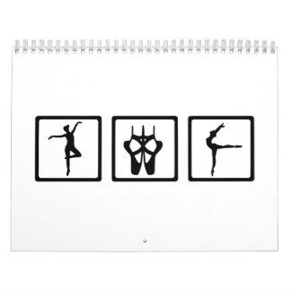 Ballet de la bailarina calendario