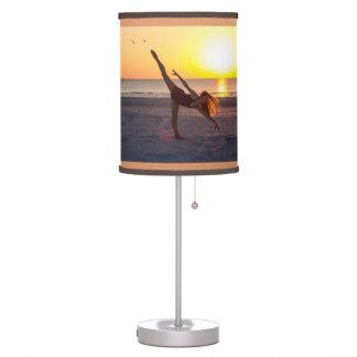 Ballet de la puesta del sol en la playa