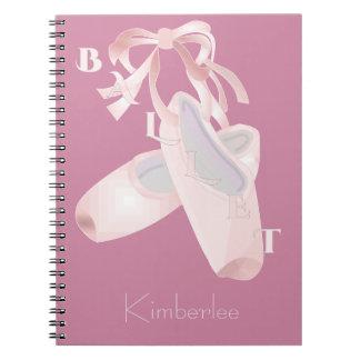 Ballet de los niños personalizado cuaderno