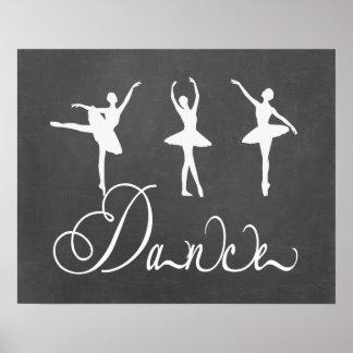Ballet de motivación de la danza póster