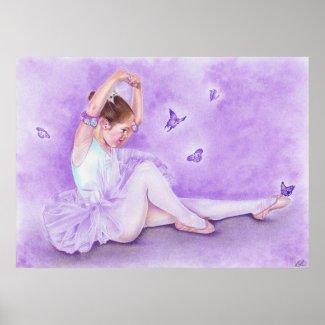 Ballet De Papillon Poster by katerinaart