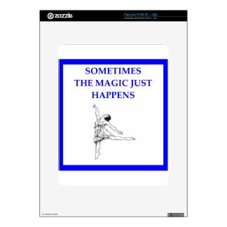 ballet decal for iPad