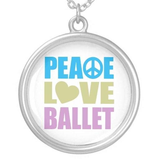 Ballet del amor de la paz colgante redondo