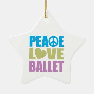 Ballet del amor de la paz adorno de cerámica en forma de estrella