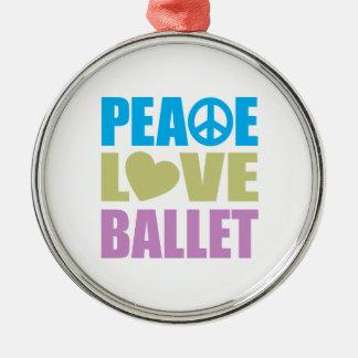 Ballet del amor de la paz ornamento para arbol de navidad