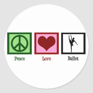Ballet del amor de la paz etiqueta redonda