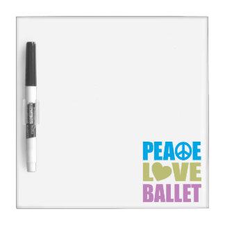 Ballet del amor de la paz pizarra