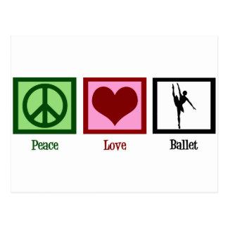 Ballet del amor de la paz postales