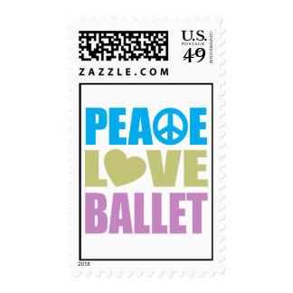 Ballet del amor de la paz franqueo