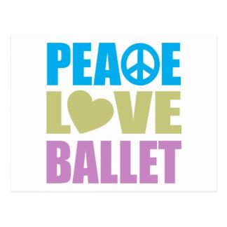 Ballet del amor de la paz postal