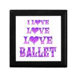 Ballet del amor del amor caja de recuerdo
