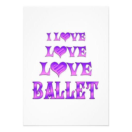 Ballet del amor del amor invitación
