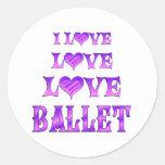 Ballet del amor del amor pegatina redonda