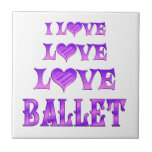 Ballet del amor del amor teja cerámica