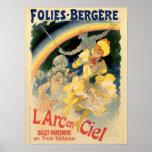 Ballet del arco iris de Folies Bergère del vintage Impresiones