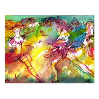 BALLET del CARNAVAL/mascarada veneciana, danza, Postal