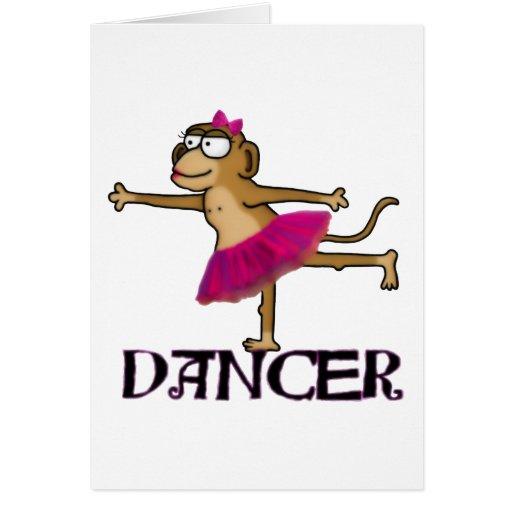 Ballet del mono felicitacion