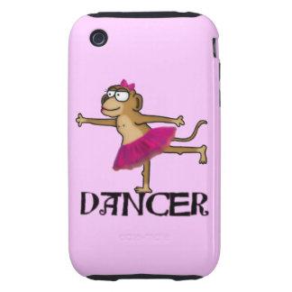 Ballet del mono tough iPhone 3 cárcasa