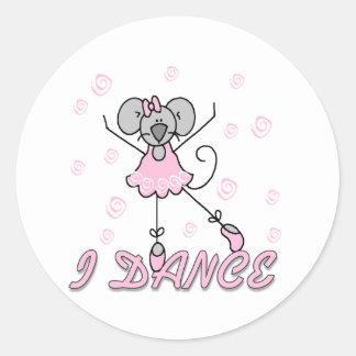 Ballet del ratón que bailo pegatina