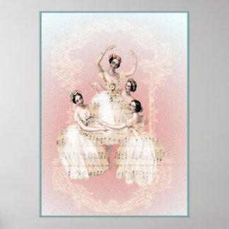 ballet del trío póster