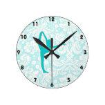 Ballet del trullo reloj redondo mediano