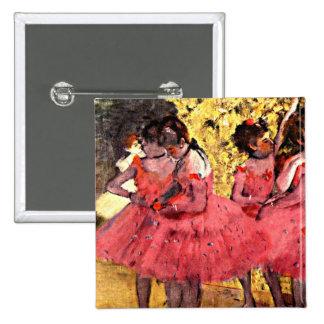 BALLET--Desgasifique: Los bailarines rosados Pin Cuadrada 5 Cm