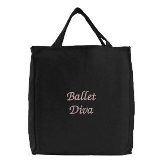 Ballet Diva Embroidered Tote Bag