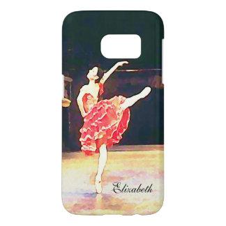 Ballet Don Quixote Red Tutu Watercolor Samsung Galaxy S7 Case