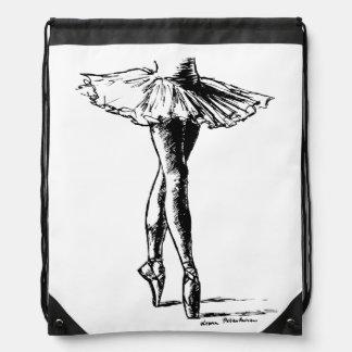 Ballet Drawstring Backpack