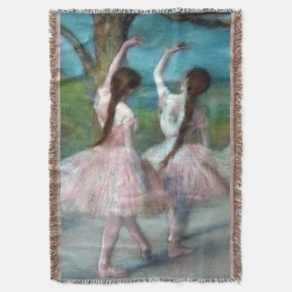 Ballet Edgar Degas Throw Blanket