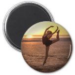 Ballet en el imán de la playa