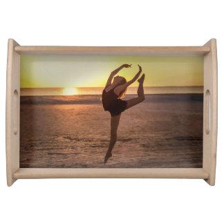 Ballet en la playa bandejas