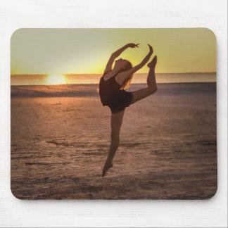 Ballet en la playa Mousepad Alfombrilla De Ratón