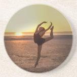 Ballet en la playa posavasos diseño