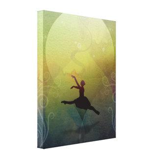 Ballet en la soledad (color Verde) Lienzo Envuelto Para Galerías