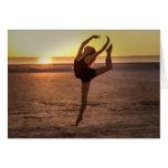 Ballet en la tarjeta de la nota o de felicitación