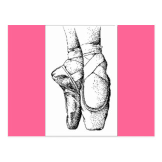 Ballet -- En Pointe Postcard