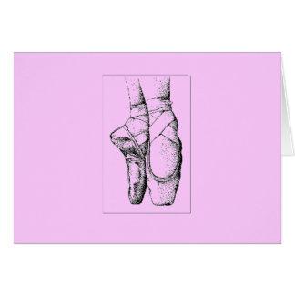 Ballet -- En Pointe Tarjeta